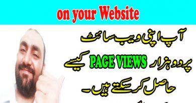 Get Free 2000 Page Views on your Website - Hurry Up - in Urdu and Hindi