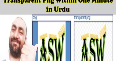 How To Convert Any Image into Transparent Png within One Minute in Urdu