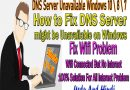 DNS Server Unavailable Windows 10 \ 8 \ 7 | How to Fix DNS Server might be Unavailable on Windows